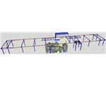半自动铝型材静电喷涂生产线